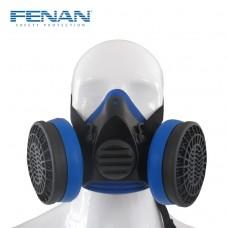 芬安半面罩防毒面具双滤盒