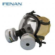 芬安双滤罐球形全面罩防毒面具